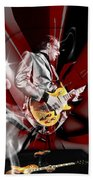 Joe Bonamassa Blue Guitarist Art Beach Sheet