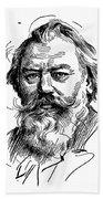 Johannes Brahms 1833-1897 Beach Towel