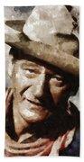 John Wayne Hollywood Actor Beach Towel
