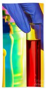 Laboratory Test Tube In Science Research Lab Beach Towel