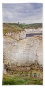 Lighthouse And Cliffs Beach Towel