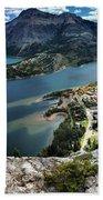 Looking Down On Waterton Lakes Beach Towel