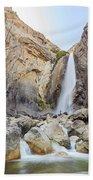 Lower Yosemite Fall In The Famous Yosemite Beach Towel