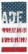 Made In Williamsburg, Virginia Beach Towel