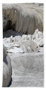 Mammoth Hot Springs Upper Terraces In Yellowstone National Park Beach Sheet