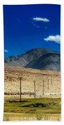 Mountains Of Leh Ladakh Jammu And Kashmir India Beach Towel