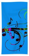 Music Flows Collection Beach Towel
