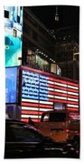 New York City Times Square Beach Sheet