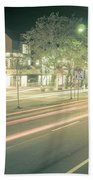 Newport Rhode Island City Streets In The Evening Beach Towel