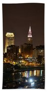Nightlife In Cleveland Beach Towel