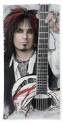 Nikki Sixx 4 Beach Towel