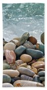 Ocean Stones Beach Towel