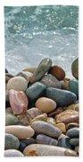 Ocean Stones Beach Towel by Stelios Kleanthous