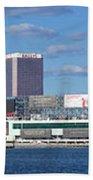 Panoramic View Of Atlantic City, New Jersey Beach Towel