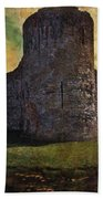 Pevensey Castle Ruins Beach Towel