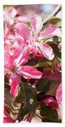 Pink Cherry Tree Beach Towel