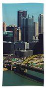 Pittsburg Skyline Beach Towel