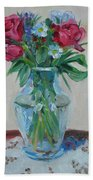 3 Roses Beach Towel