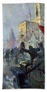Russian Revolution, 1917 Beach Towel