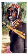 Samburu Warrior Beach Towel