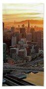 San Francisco Financial District Skyline Beach Sheet