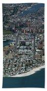 Seagate And Brighton Beach In Brooklyn Aerial Photo Beach Towel