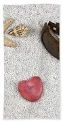 Seastar And Shells Beach Towel by Joana Kruse