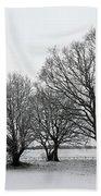 Snow On Epsom Downs Surrey Uk Beach Towel