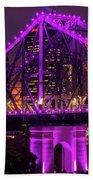 Story Bridge In Brisbane, Queensland Beach Sheet