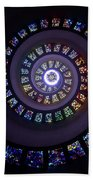 Spiral Stained Glass Beach Towel