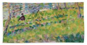 Study For Sunday Afternoon On The Island Of La Grande Jatte Beach Sheet