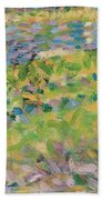 Study For Sunday Afternoon On The Island Of La Grande Jatte Beach Towel