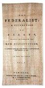 The Federalist, 1788 Beach Towel
