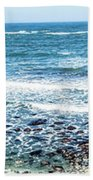 Usa California Pacific Ocean Coast Shoreline Beach Towel
