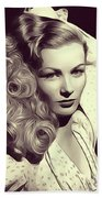 Veronica Lake, Vintage Actress Beach Towel