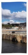 View From The Cobb - Lyme Regis Beach Towel