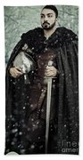 Viking Warrior With Sword Beach Sheet