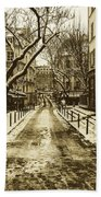 Winter In Paris Beach Towel