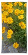 Yellow Flowers Beach Sheet