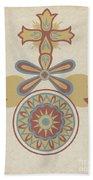 "Santa Barbara Mission Doorway Design From The Portfolio ""decorative Art Of Spanish California"" Beach Towel"