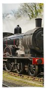 Steam Train At Rest. Beach Towel