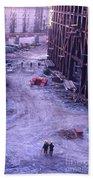 World Trade Center Under Construction 1967 Beach Towel