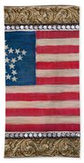 33 Star American Flag. Painting Of Antique Design Beach Towel