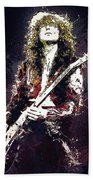 Jimmy Page. Led Zeppelin. Beach Towel
