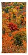 North Carolina Fall Colors Beach Towel