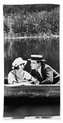 Silent Film Still: Couples Beach Towel