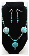 3508 Crazy Lace Agate Necklace And Earrings Beach Towel