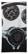 356 Porsche Dash Beach Towel