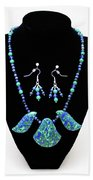 3582 Lapis Lazuli Malachite Necklace And Earring Set Beach Towel