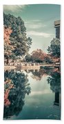 Charlotte North Carolina Cityscape During Autumn Season Beach Towel